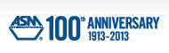 ASM 100 years logo