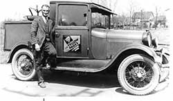Ray Linton with his Ohio Bell Truck.