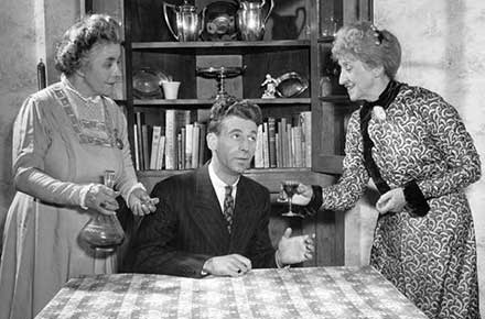 Helen Watkins, Beau Bruestle, and Abbie Smith in Arsenic and Old Lace, 1944.