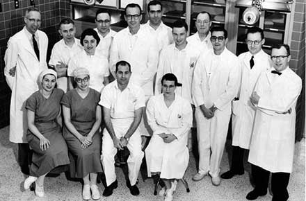 Team that participated in Cleveland's first stopped-heart surgery, 1956.