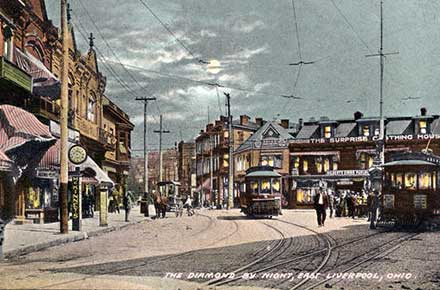 Postcard of the Diamond Historic District