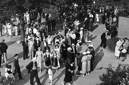 German Day crowd, 1935.