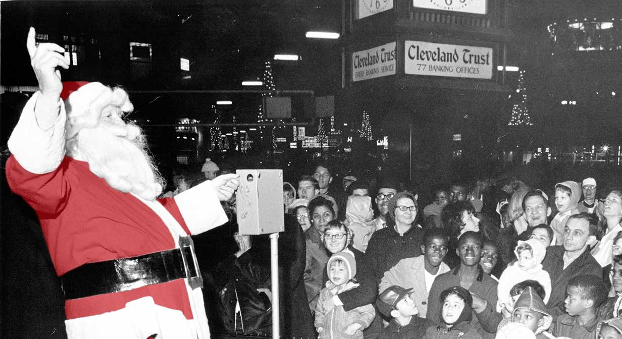 Santa Claus at Public Square, 1957