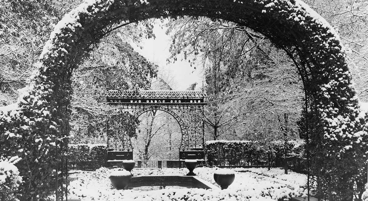 The Hungarian Cultural Gardens in Rockefeller Park, winter 1953