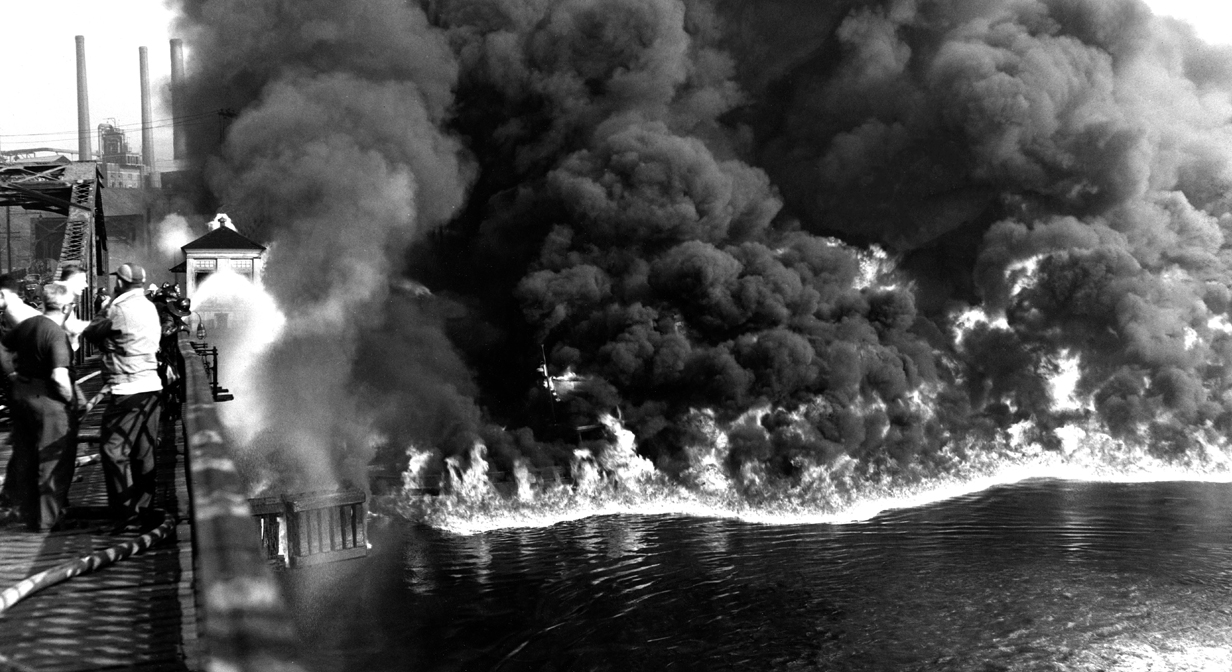 50 years ago:  On June 22, 1969, oil and debris on the surface of the Cuyahoga River in Cleveland, Ohio, burst into flames and burned for twenty-five minutes.