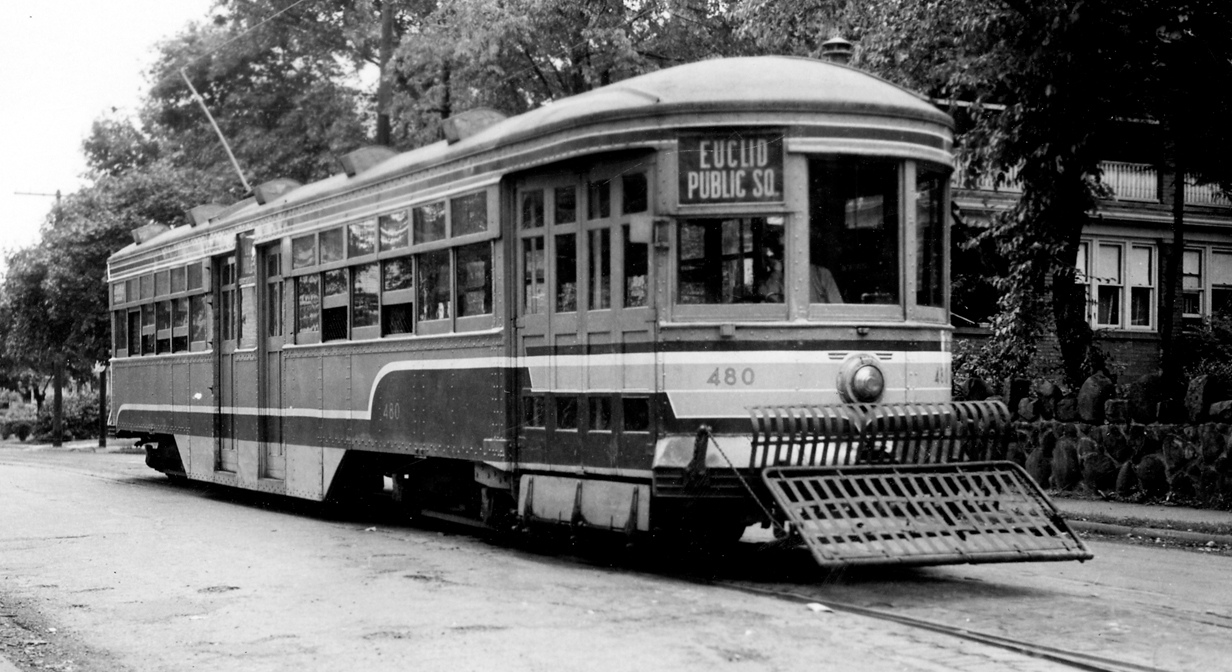 79 years ago: Cleveland Railway car 480 on Euclid Avenue, June 25, 1940.