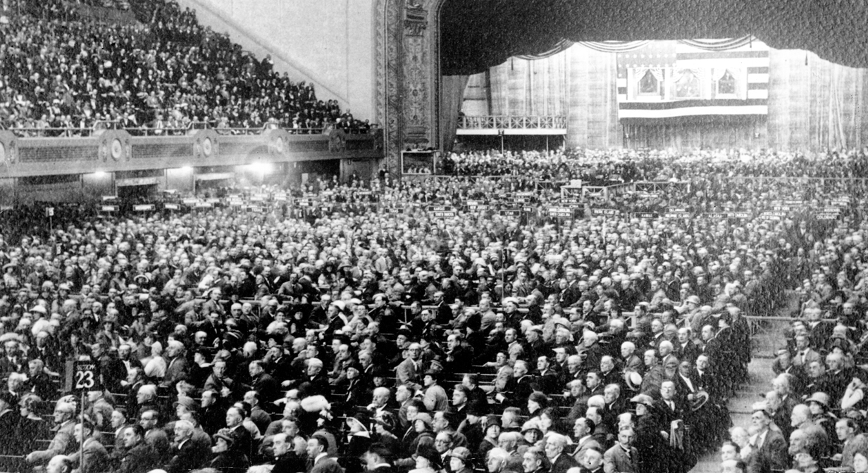 95 years ago:  The Republican National Convention opened in Cleveland. June 10, 1924.