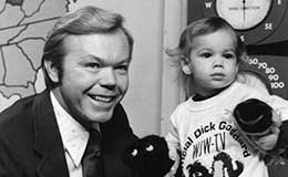 Dick Goddard with Paige Mueller