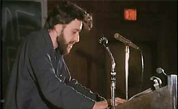 d.a. levy reading his poetry, 1967.
