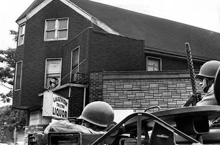 Ohio National Guard on patrol in Glenville, 1968.