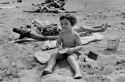 Boy playing in sand, Mentor Headlands, 1968.