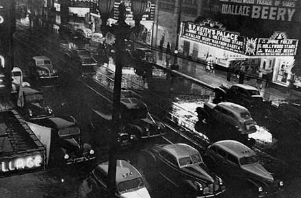 Playhouse Square in March of 1940