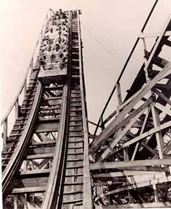 Roller coaster at Cedar Point