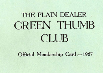 Green Thumb Club membership card