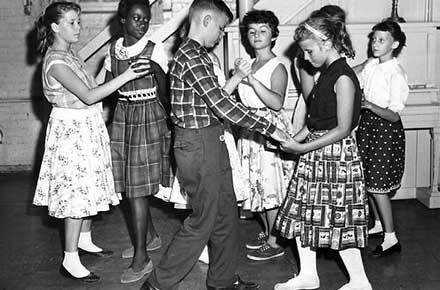 Dancing lessons at Goodrich Settlement House, 1959.
