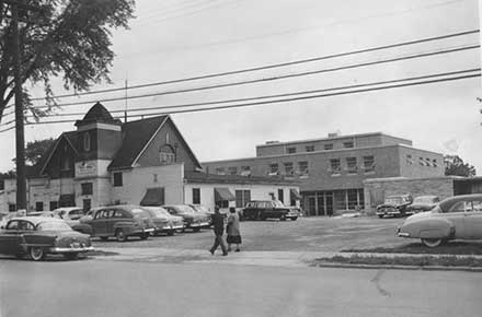 South Euclid City Hall, new and old, 1954.