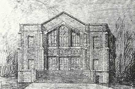 Beth Israel, The West Temple (architectural drawing)